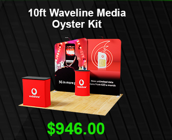 10ft Kit (Straight OneFabric Pop Up Display + Table Cloth + Literature stand) USD 995