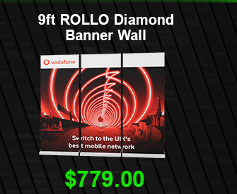 9ft ROLLO Diamond Banner Wall USD 779