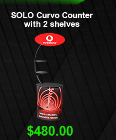 SOLO Curvo Counter with 2 shelves USD 480